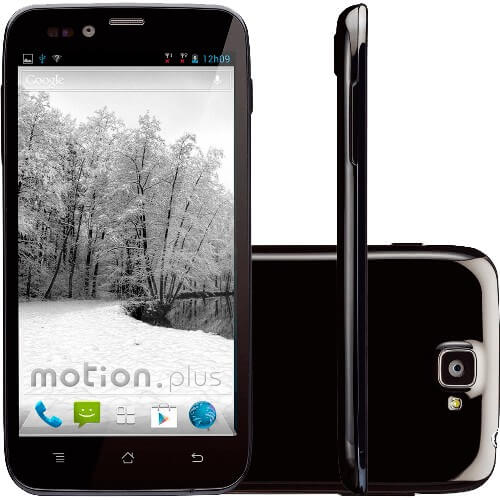 "Smartphone CCE Motion Plus SK504 - 3G - Dual Chip - Tela de 5"" - Quad Core - 8MP - Android 4.1 - Preto"