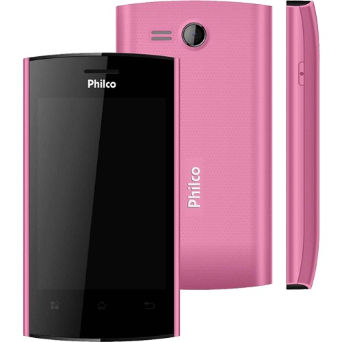 "Smartphone Philco Phone 350 Rosa - GPS - Dual Chip - 3MP - Tela de 3.5"" - Android 4.0"