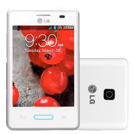 "Smartphone LG E425 Optimus L3 II - 3G - Wi-Fi - 3.2"" - 3MP - Android 4.1 - Branco"