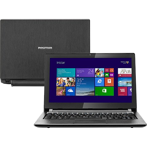 "Notebook Positivo Premium S2300 - Touchscreen - Intel Celeron 1007U - RAM 2GB - HD 320GB - Tela 11.6"" - Windows 8.1"
