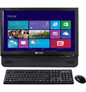 "Computador All in One SpaceBR-DIY215B - Preto - Intel Core i3-2120 - RAM 4GB - HD 500GB - Tela 21.5"" - Windows 8"