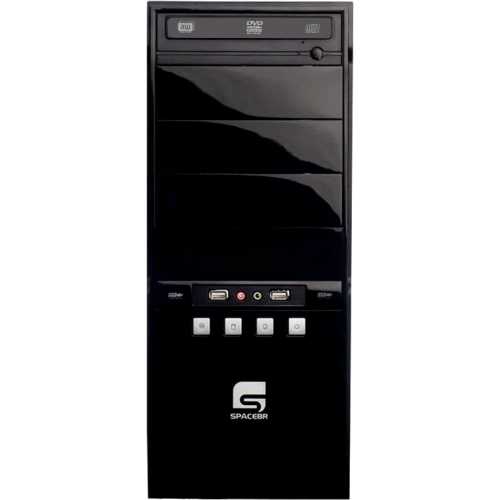 Computador Desktop SpaceBR-AM3X4-LNX - Preto - AMD Athlon II X4 630 - RAM 6GB - HD 500GB - Linux
