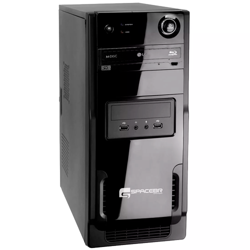 Desktop SpaceBR-P3I73 - Preto - Intel Core i5-3330 - RAM 6GB - HD 1TB - Linux