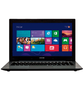 "Notebook CCE Ultra Thin S43 - Intel Celeron 847 - HD 500GB - RAM 4GB - LED 13.3"" - Windows 8"