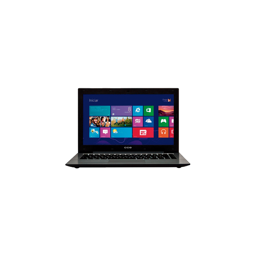 "Notebook CCE Ultra Thin S43 - Intel Celeron 847 - HD 500GB - RAM 4GB - LED 13.3"" - Windows 8"