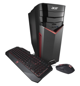 Desktop Gamer Acer GX-783-BR11 - Intel Core i5-7400 - Geforce GTX 1050 Ti - RAM 8GB - HD 1TB - Windows 10