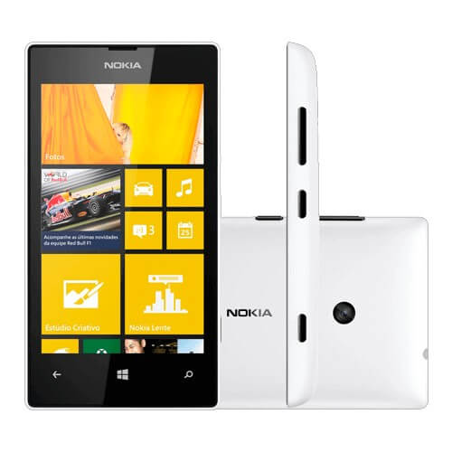 "Smartphone Nokia Lumia 520 Branco - 8GB - GPS - 5MP - Windows Phone 8 - Tela 4"" - Desbloqueado"