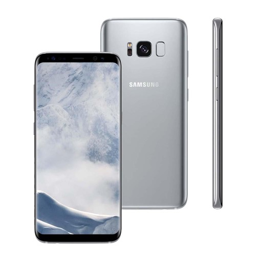 "Smartphone Samsung Galaxy S8 - Prata - Dual-Chip - 64GB - 12MP - Tela 5.8"" - Android 7.0"