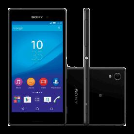 "Smartphone Sony Xperia M4 AQUA E2363 Preto - 16GB - 13MP - Dual Chip - Tela HD 5"" - Android 5.0"