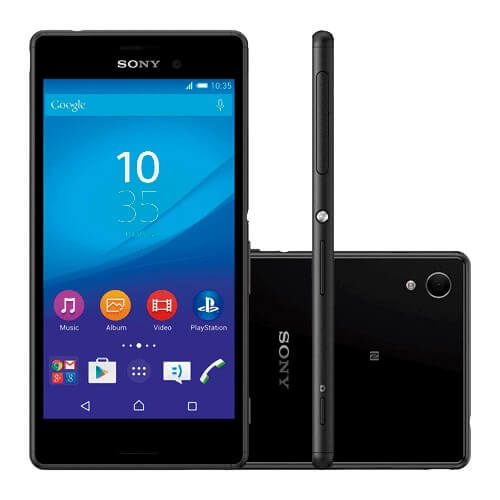 "Smartphone Sony Xperia M4 AQUA E2363 Preto - 16GB - 13MP - Dual Chip - Tela HD 5"" - Android 5.0"