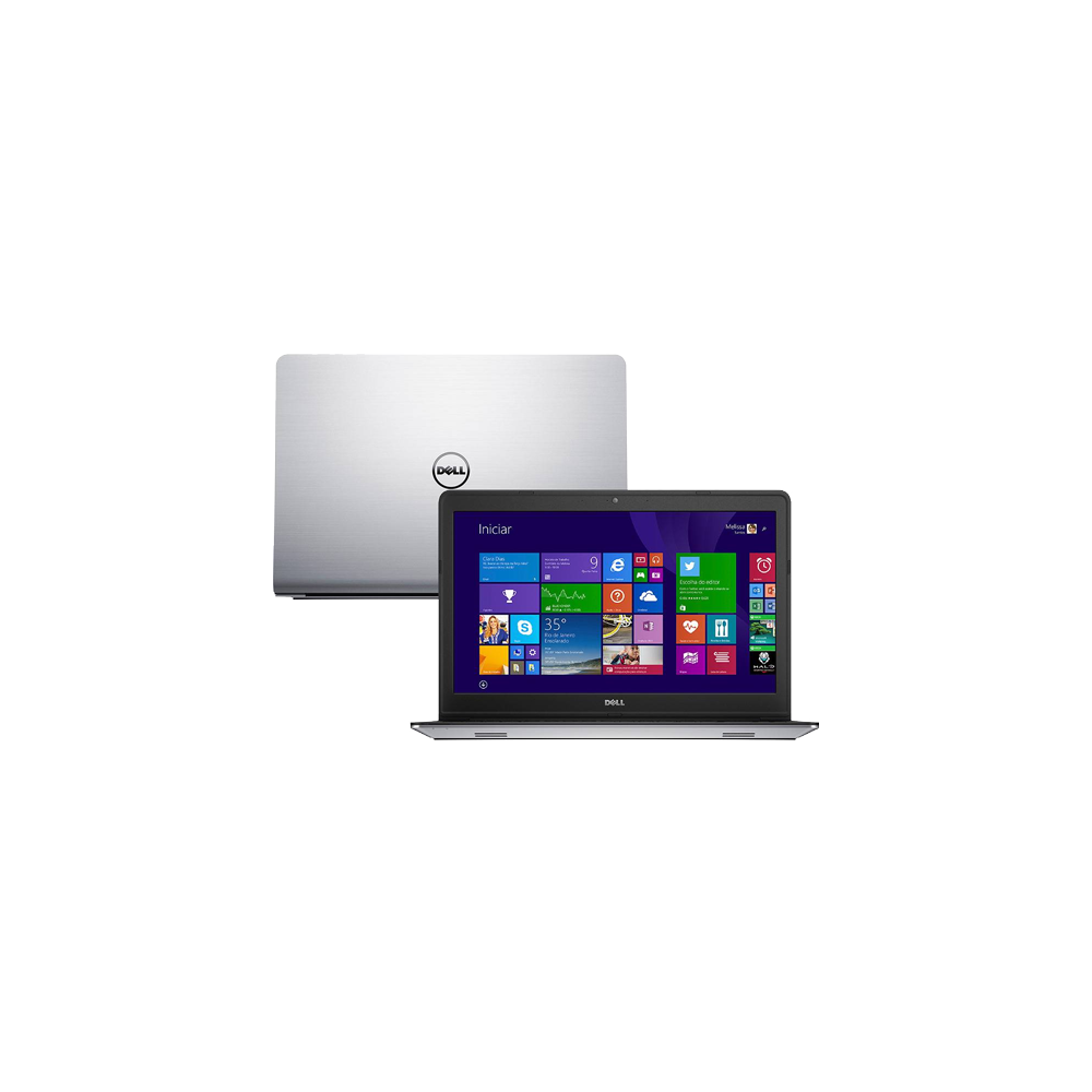 Notebook Dell Inspiron I15-5548-B20 - Prata - i7-5500U - RAM 8GB - HD 1TB - SSD 8GB - Tela 15.6 - Windows 8.1