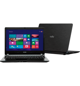 "Notebook CCE Ultra Thin U25 - Preto - Intel Celeron 847 - RAM 2GB - HD 160GB - Tela 14"" - Windows 8"