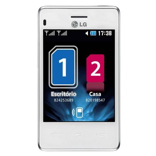 "Smartphone LG T375 Cookie - Branco - Dual-Chip - 2MP - Bluetooth - Tela 3.2"""