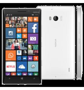 Smartphone Nokia Lumia 930, cor branco, armazenamento de 32GB, câmera traseira 20MP e frontal 1.2MP, processador Quad Core de 2.2 GHz, tela 5 polegadas e sistema operacional Windows Phone 8.1.