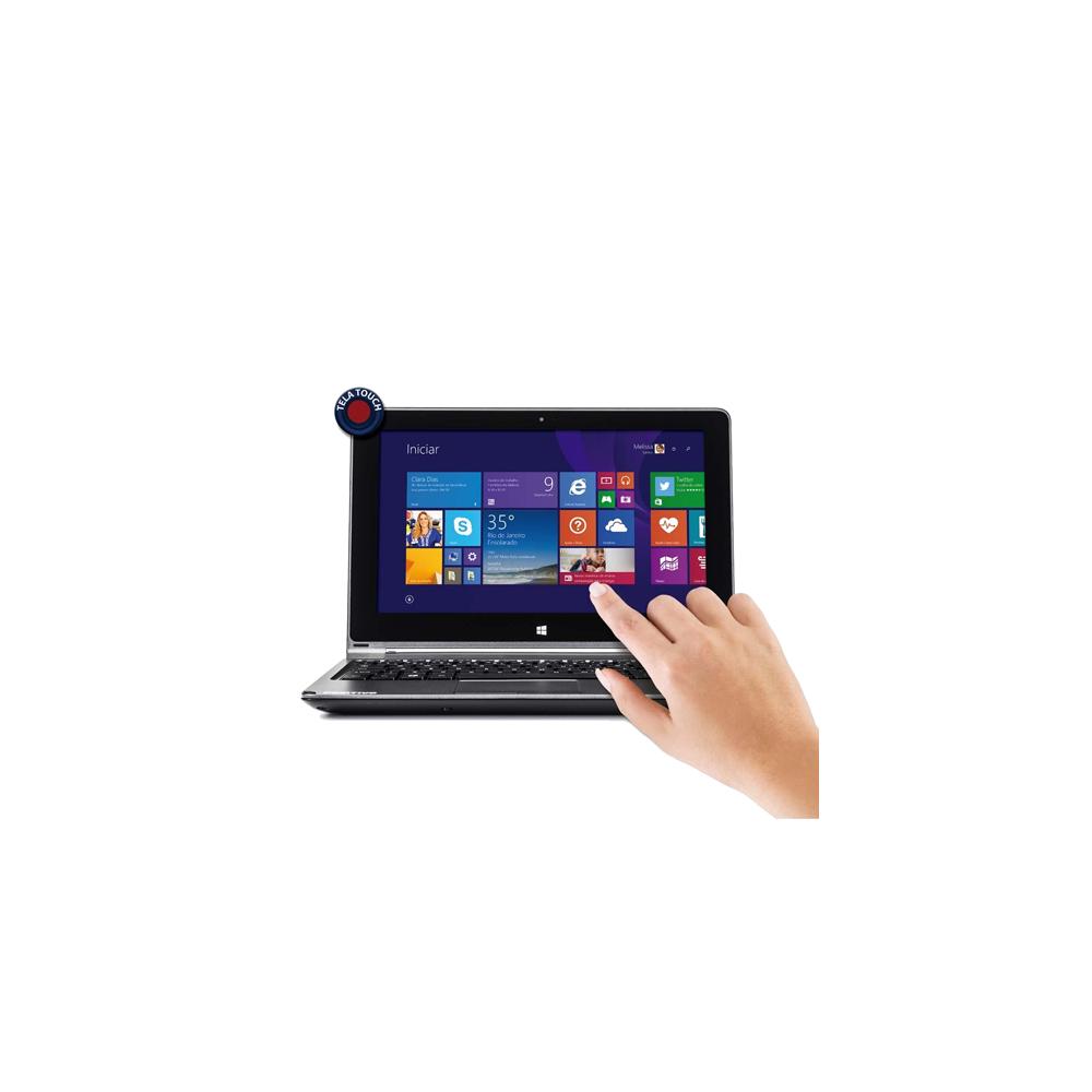 "Notebook 2 em 1 Positivo ZK3010 - Intel Celeron N2806 - RAM 2GB - HD 500GB - Tela 10.1"" - Windows 8.1"