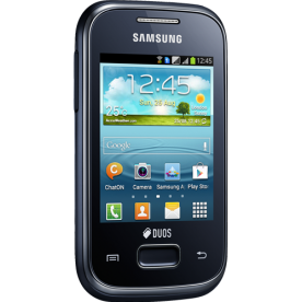 "Smartphone Samsung Galaxy Y Plus Duos S5303 - Dual-Chip - 4GB - 2MP - Tela 2.8"" - Android 4.0"