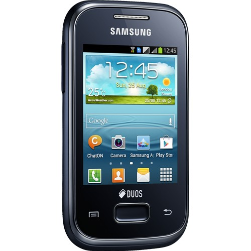 "Smartphone Samsung Galaxy Y Plus Duos S5303 - Azul - Dual-Chip - 4GB - 2MP - Tela 2.8"" - Android 4.0"