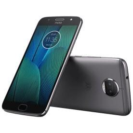 Smartphone Motorola Moto G 5S Plus XT1802, cor platinum, câmera de 13MP e frontal de 8MP armazenamento 32GB, possui TV digital, processador Octa-Core de 2 Ghz, tela de 5.5 polegadas e sistema...