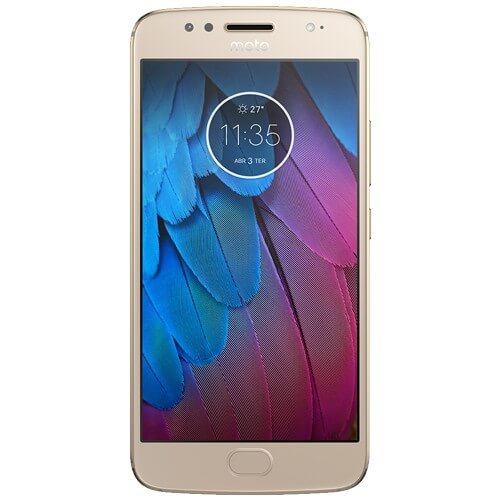 "Smartphone Motorola Moto G 5S XT1792 Dourado - 32GB - 16MP - Tela 5.2"" Android 7.1"