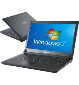 "Notebook Philco 14I-P724WS - AMD Series C-60 - RAM 2GB - HD 500GB - Tela 14"" - Windows 7 Starter"