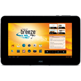 "Tablet AOC Breeze MW0711P BR - Wi-Fi - 8GB - RAM 1GB - Cortex A8 - Tela 7"" - Android 4.0"