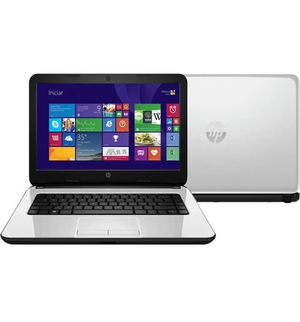 "Notebook HP 14-R050BR - Branco - Intel Dual Core N2830 - RAM 4GB - HD 500GB - Tela 14"" - Windows 8.1"