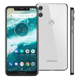 "Smartphone Motorola One XT1941 - Branco - Dual-Chip - 64GB - 13MP - Tela 5.9"" - Android 8.1"