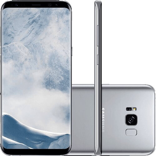 "Smartphone Samsung Galaxy S8 - 64GB - Octa-Core - 12MP - Tela 5.8"" - Quad HD - Prata - Android 7.0"