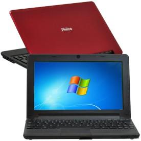 """Netbook Philco 10D-V123WS - Vermelho - Intel Atom N2600 - RAM 2GB - HD 320GB - Tela 10"""" - Windows 7"""