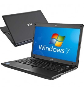 "Notebook CCE Chromo 345P - Preto - Intel Core i3-2310M - HD 500GB - RAM 4GB - Tela 14"" - Windows 7 Pro"