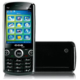 Celular CCE Mobi C10 - Dual Chip - Bluetooth - TV-Out - Dual Core - MP3 - Rádio FM - Preto