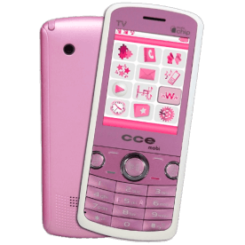 Celular CCE Mobi C10 Rosa - Dual Chip - MP3 Player - Rádio FM