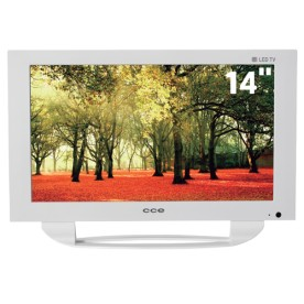 "TV CCE LW144 - Branca - LED 14"" - Conversor Digital"