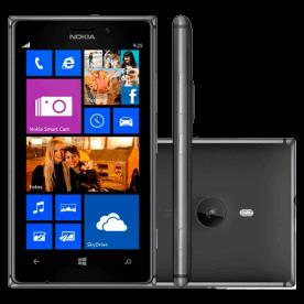 """Smartphone Nokia Lumia 925 Preto com de 16GB, sistema operacional Windows Phone 8, Câmera de 8.7MP, conexões móveis 4G, Bluetooh e Wi-Fi, tela sensível ao toque de 4.5"""" e processador Snapdragon..."""