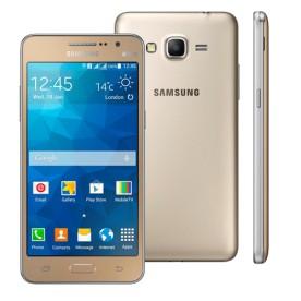 "Smartphone Samsung Galaxy Gran Prime Duos G531H - Dourado - 8GB - 3G - Tela 5"" - Android 4.4"