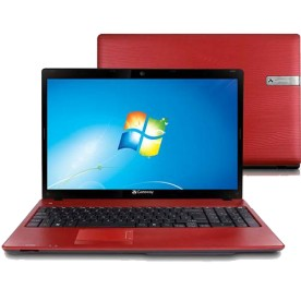 "Notebook Acer Gateway NV55C02B - Vermelho - Intel Core i5-480M - RAM 4GB - HD 640GB - Tela 15.6"" - Windows 7 Home Basic"