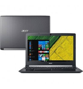 "Notebook Acer Aspire 5 A515-51G-71CN - Intel Core i7-7500U - GeForce 940MX - RAM 8GB - HD 2TB - Tela 15.6"" - Windows 10"