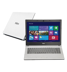 "Notebook Philco 14M-B744W8-3D - Branco - AMD C-Series - RAM 4GB - HD 500GB - Tela 14"" - Windows 8"