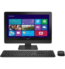 "Computador All in One Dell AIO Optiplex 3030-W10B - Preto - Intel Core i3-4150 - RAM 4GB - HD 500GB - Tela 19.5"" - Windows 8.1"