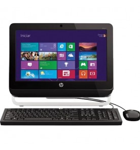 "Computador All In One HP 18-1200BR - Preto - AMD E1-1500 - RAM 4GB - HD 500GB - Tela 18.5"" - Windows 8"