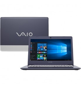 "Notebook Sony Vaio VJC142F11X - Preto - Intel Core i7-7500U - RAM 8GB - SSD 256GB - Tela 14"" - Windows 10"