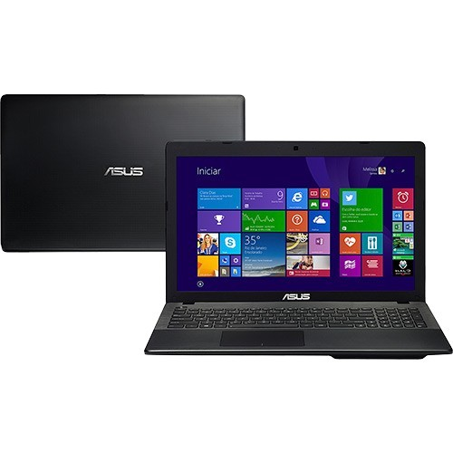 "Notebook Asus X552EA-SX188H - Preto - AMD Quad Core E2-3800 - RAM 4GB - HD 320GB - Tela 15.6"" - Windows 8"