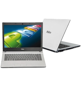 """Notebook Philco 14G-B123LM - Branco - Intel Atom N2600 - RAM 2GB - HD 320GB - Tela 14"""" - Linux"""