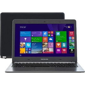 "Notebook Positivo Ultra S1990 - Preto - Intel Dual Core 847 - RAM 4GB - HD 500GB - Tela 14"" - Windows 8"