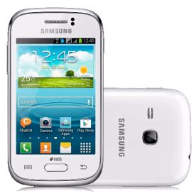 "Smartphone Samsung Galaxy Young Plus Duos TV S6293 Branco - Dual Chip - Câmera 3MP - 4GB - Tela 3.2"" - Android 4.1"