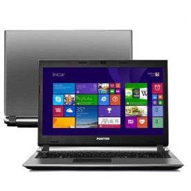 "Notebook Positivo Premium S6100 - Cinza - Intel Core i3-3217U - RAM 4GB - HD 500GB - Tela 14"" - Windows 8.1"