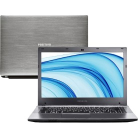 "Notebook Positivo Ultra S8500 - Cinza - Intel Core i5-3317U - RAM 4GB - HD 500GB - Tela 14"" - Windows 8"