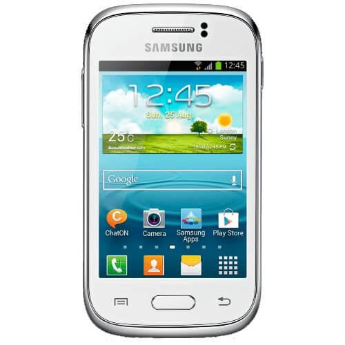 "Smartphone Samsung Galaxy Young Plus Duos TV S6293 Branco - Dual Chip - Câmera 3MP - 4GB - Tela 3.2"" - Android 4.1"