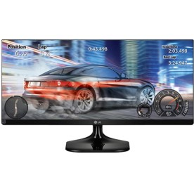 "Monitor LG 25UM58-P LED IPS 25"" - Preto - Full HD - UltraWide - HDMI"