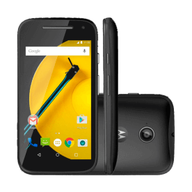"Smartphone Motorola Moto E 2015 Preto XT1514 - 4G - 8GB - Dual-Chip - 4.5"" - Android 5.0.2"